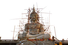 Big buddha statue under construction Royalty Free Stock Images