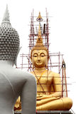 Big Buddha statue. Under construction in Thailand temple Royalty Free Stock Photos