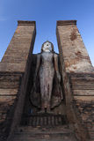 Big Buddha statue in Wat Mahathat Stock Photo
