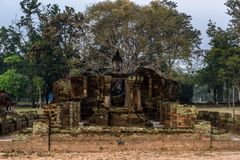 Big Buddha Statue of Wat Sri Chum in world heritage site Sukhoth. Ruin Big Buddha Statue of Wat Sri Chum in world heritage site Sukhothai historical park Royalty Free Stock Images