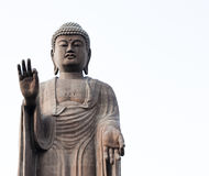 Big Buddha Statue on White Background, Narita, Japan. The tallest Buddha statues in the world and definitely the tallest statue in Japan. Ushiku Daibutsu, as the royalty free stock images