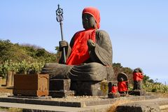 Big Buddha statue-Zao Mountain Stock Photo