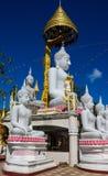 Big Buddha statues in thai buddhist wat temple Stock Image