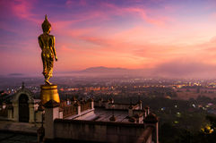 Big buddha in sunrise Stock Photos