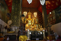 Big Buddha in temple Stock Images