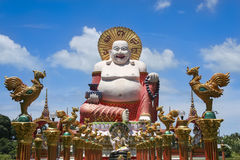 Big Buddha Temple Koh Samui Thailand Stock Image