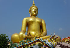 BIg buddha in Thailand. The Biggest Buddha in the world, Thailand royalty free stock image