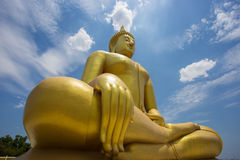 The big Buddha in thailand. The big Buddha is respect for people in thailand Stock Photo
