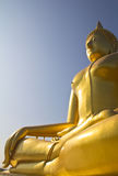 Big Buddha in Thailand temple Royalty Free Stock Photos