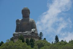 Big Buddha to one side of frame Stock Photos