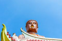 Big Buddha in Tumpat Malaysia bottom view royalty free stock photography