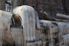 The big buddha under construction Stock Photography