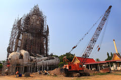 The big buddha under construction Stock Photo