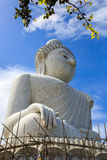 Big Buddha under construction with scaffolds in Phuket, Thailand Stock Image