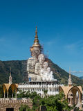 Big Buddha under construction. At temple in Thailand Stock Image