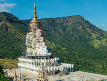 Big Buddha under construction. At temple in Thailand Stock Photos