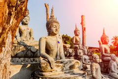 Big Buddha under construction in temple thailand. Big Buddha under construction in temple thailand Stock Image