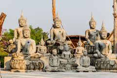 Big Buddha under construction in temple thailand. Big Buddha under construction in temple thailand Royalty Free Stock Photography