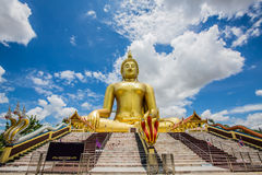 Big Buddha, Wat Muang Golden attractions. Stock Images