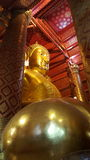 Big buddha in Wat Phananchoeng,Ayutthaya. The  ols golden buddha in thailand Royalty Free Stock Photo