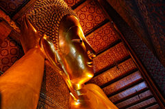 Big Buddha in Wat Pho. Reclining Buddha in Wat Pho Temple in Bangkok Royalty Free Stock Image