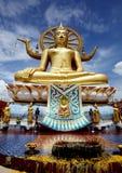 Big Buddha in Wat Phra Yai Temple Stock Photo