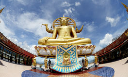 Big Buddha in Wat Phra Yai Temple Stock Photos