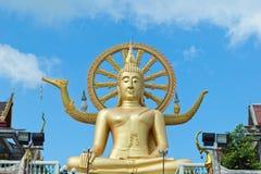 Big Buddha in Wat Phra Yai Temple, Koh Samui island Stock Photo