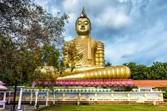 Big Buddha statue in Dickwella, Sri Lanka. Big Buddha in the Wewurukannala Vihara old temple in the town of Dickwella, Sri Lanka. A 50m-high seated Buddha statue Stock Images