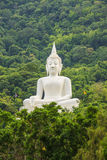 Big Buddha white color, at Wat Thep Phitak Punnaram temple in th Stock Photos
