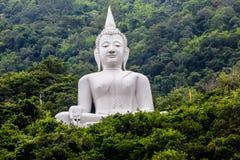 Big Buddha white color, at Wat Thep Phitak Punnaram temple in th Royalty Free Stock Image