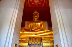 Big Buddha of Wihan Phra Mongkhon Bophit Temple Stock Photos