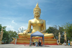 Big buddha1. This picture is the big budda in Pattaya Thailand Stock Image