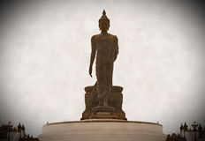 Big buddhist statue. In old stlye picture Royalty Free Stock Photos