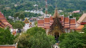 Buddhist temple in thailand. Big buddhist temple in thailand stock video footage