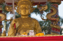 Big budha and worship wallpapers Royalty Free Stock Photography