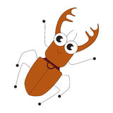 Big bug cartoon. Royalty Free Stock Photography
