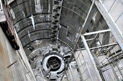 Big building hydroelectric turbine installation Stock Image