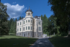Big building in Italy in the forest stock images