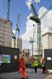 Big building site in the Bank of England aria. Stock Image