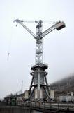 Big building tall tower crane Stock Photo