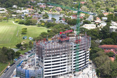 Big building under construction Royalty Free Stock Photography