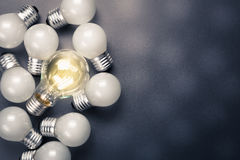 Big Bulb Glowing Royalty Free Stock Images