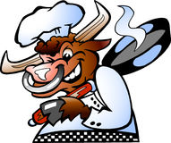 Big Bull Chef Royalty Free Stock Photo