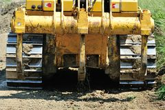 Bulldozer back view  Stock Photo