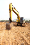 A big bulldozer at construction site Royalty Free Stock Image