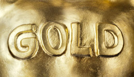 Big bullion of gold Stock Photography