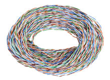 Big bunch from a computer  cable Stock Image