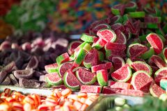 Big bunch of colorful candies Royalty Free Stock Photos