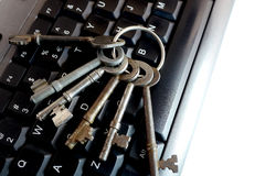 Big bunch of keys on keyboard Royalty Free Stock Image